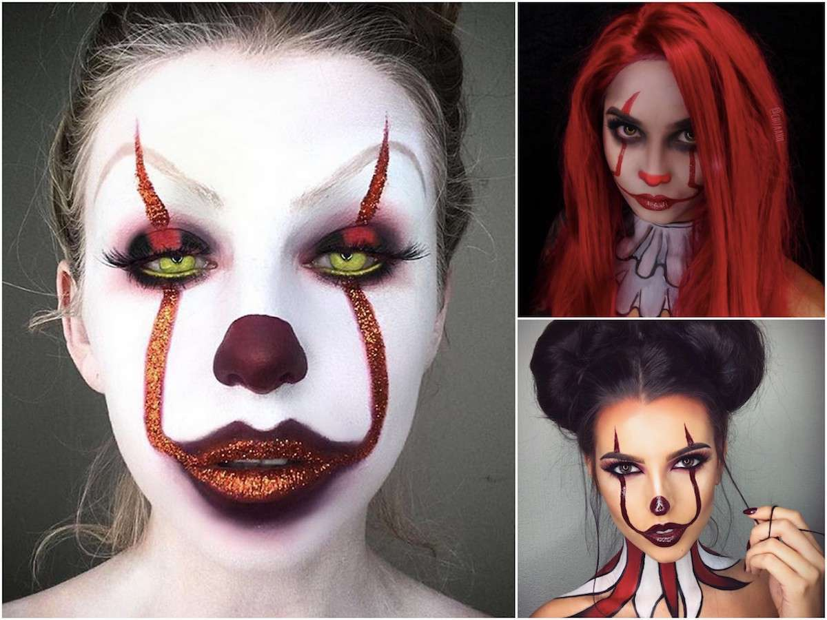 Make up 'It' per Halloween