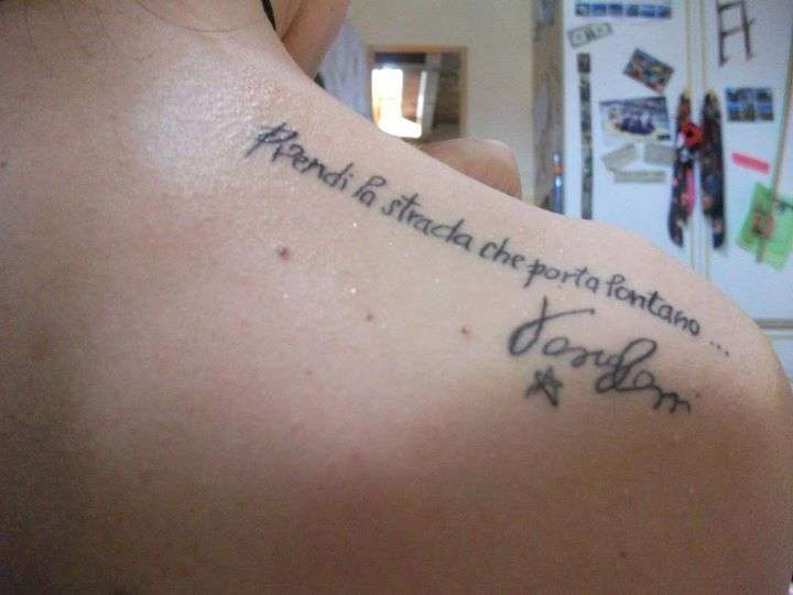 Frasi vasco per tatuaggi foto 13 25 bellezza pourfemme for 3 parole da tatuare