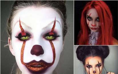 Make up da pagliaccio 'It' per Halloween