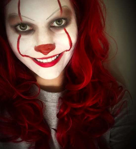 Trucco Pennywise facile per Halloween