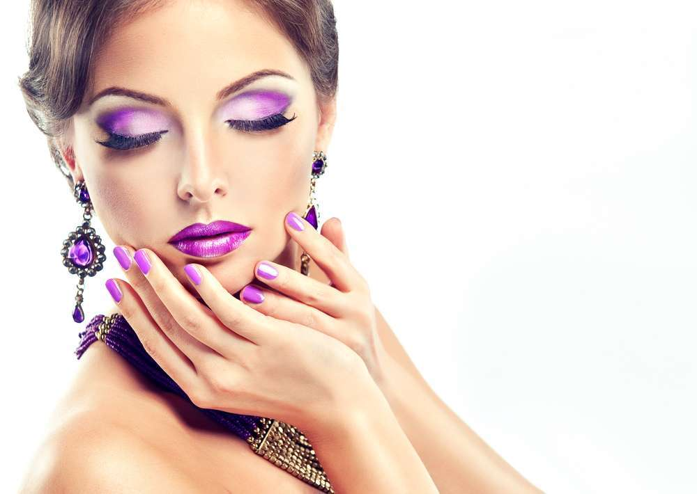 Beauty look Ultra Violet
