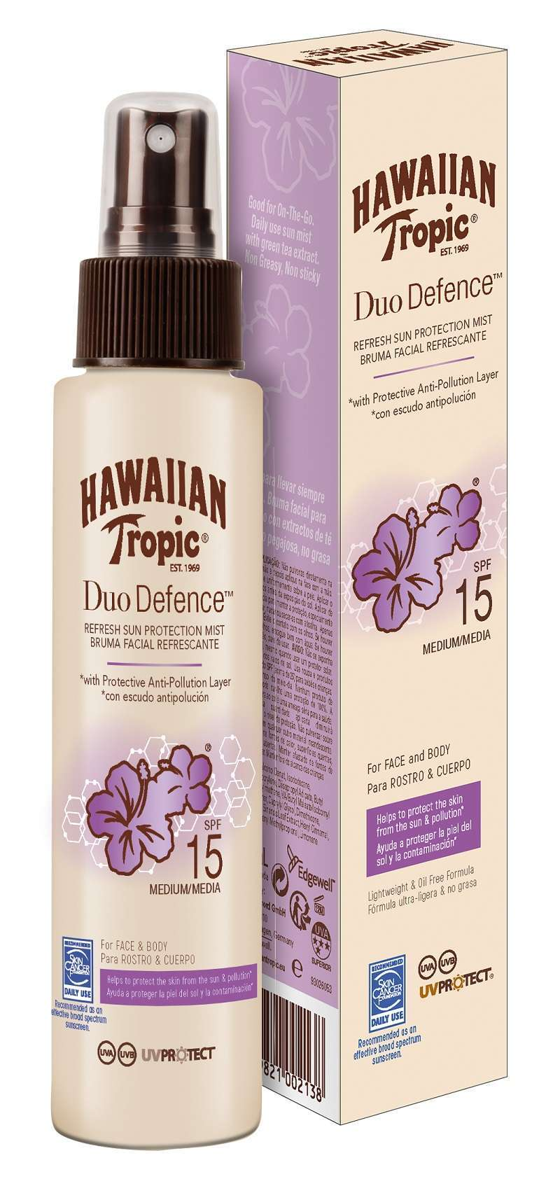 Hawaiian Tropic Duo Defence Rinfrescante Spray