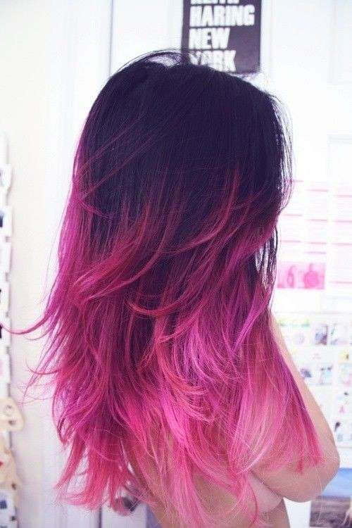 Punte colorate su capelli castani  96c9d2d3f3d9