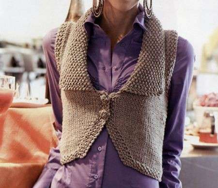 Gilet con colletto ai ferri