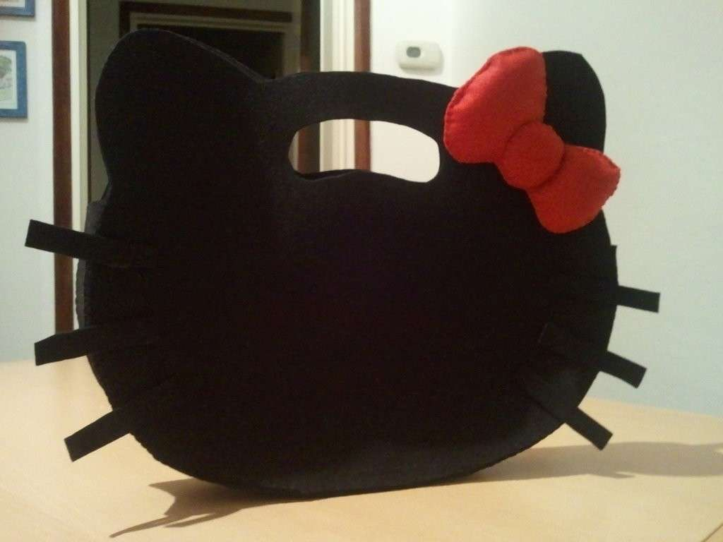 Borsa Hello Kitty nera