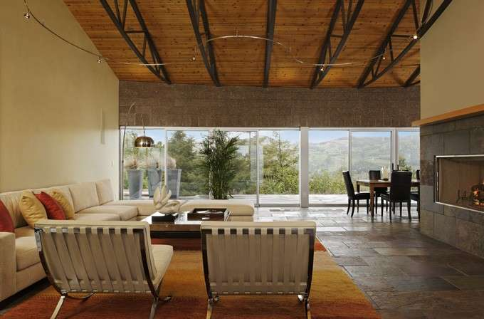 Living moderno in montagna
