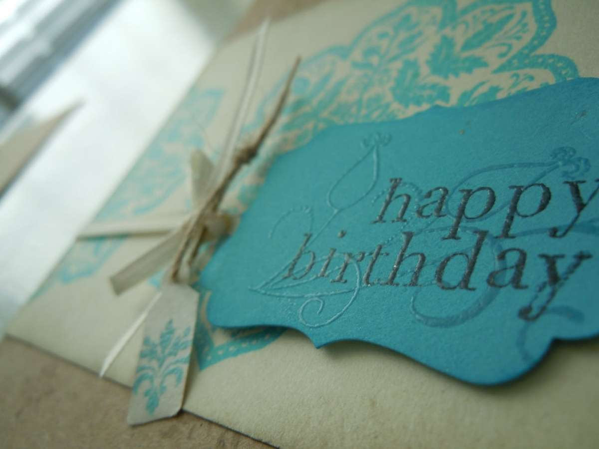 Buon compleanno shabby chic