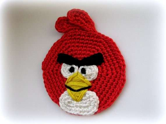 Angry Bird all'uncinetto