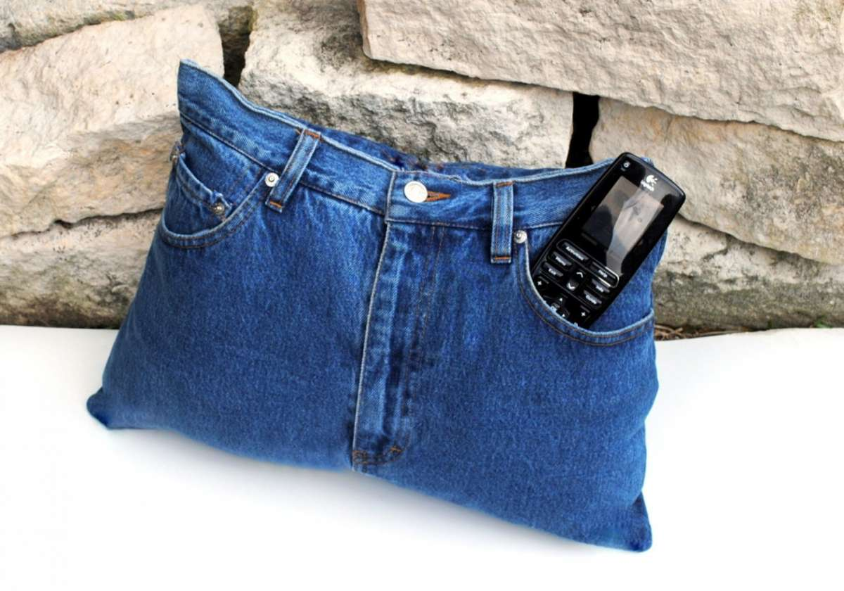 Cuscino originale in denim