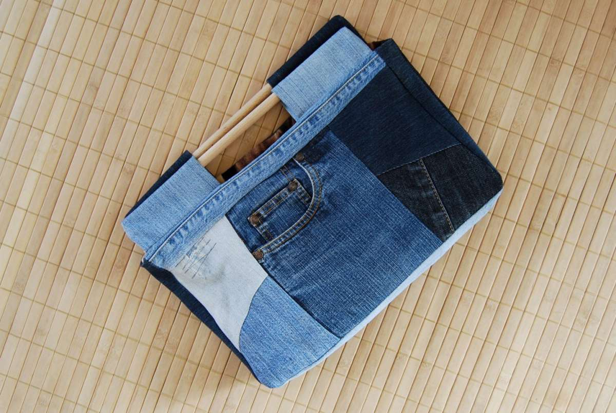Pochette in denim