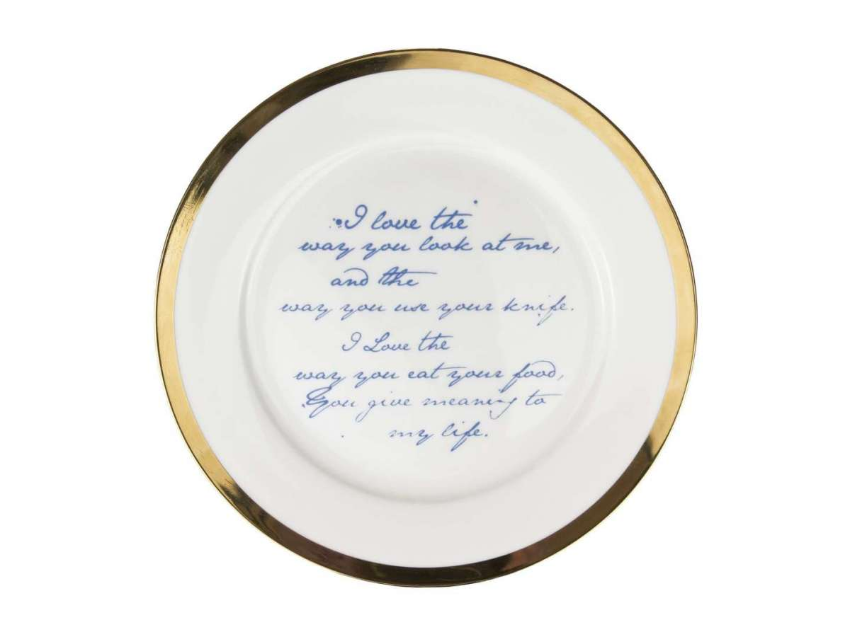 Piatto in porcellana Poetry Plates di Mineheart