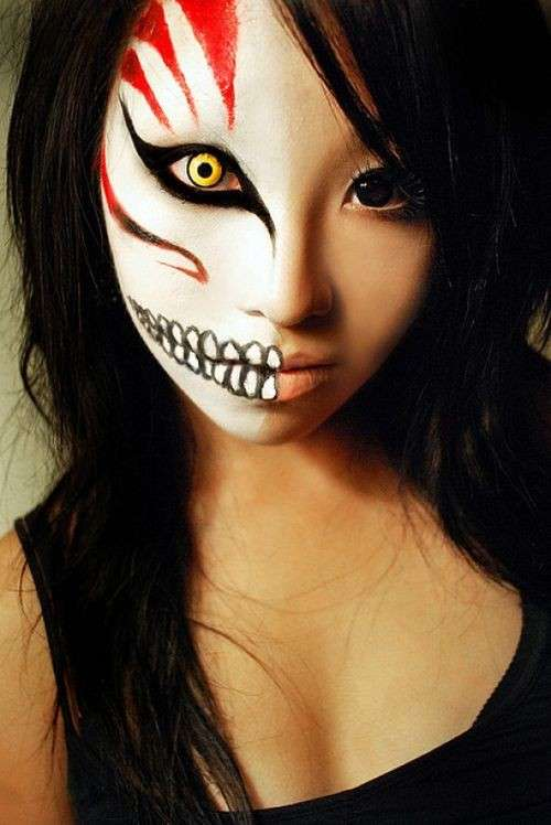Maschere per Halloween fai da te  make up 4fb3619d4fac