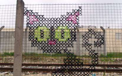 Urban X Stitch: i graffiti a punto croce